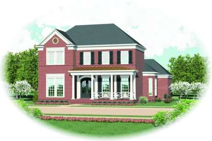 4 Bed, 3 Bath, 3698 Square Foot House Plan - #053-01790