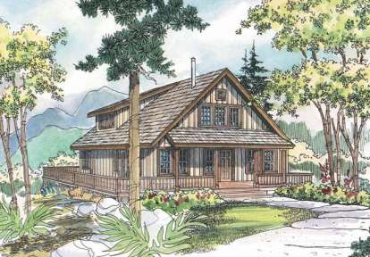 3 Bed, 3 Bath, 1749 Square Foot House Plan #035-00287