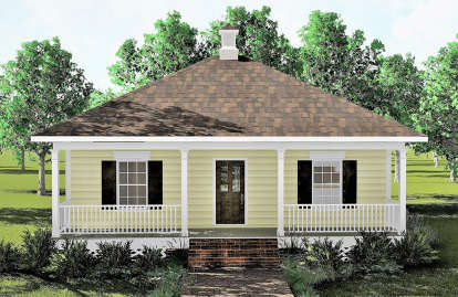 2 Bed, 1 Bath, 864 Square Foot House Plan - #1776-00002