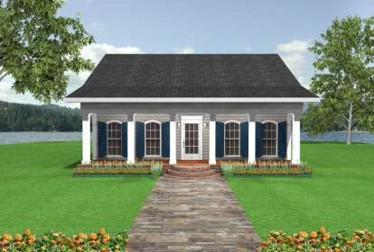 2 Bed, 1 Bath, 1097 Square Foot House Plan - #1776-00005