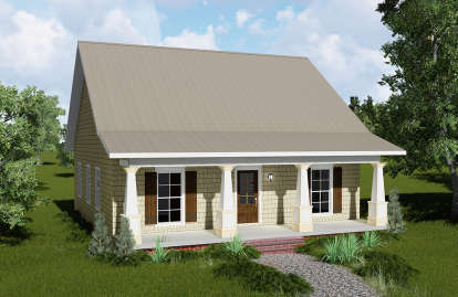2 Bed, 2 Bath, 1122 Square Foot House Plan - #1776-00006