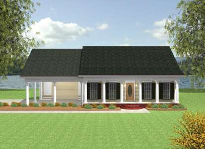 2 Bed, 1 Bath, 1152 Square Foot House Plan - #1776-00007