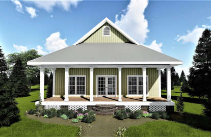 3 Bed, 1 Bath, 1292 Square Foot House Plan - #1776-00012