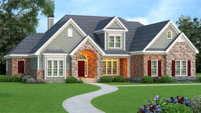 4 Bed, 4 Bath, 3793 Square Foot House Plan - #009-00077