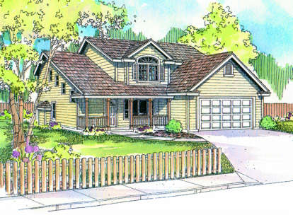 4 Bed, 3 Bath, 2256 Square Foot House Plan - #035-00289
