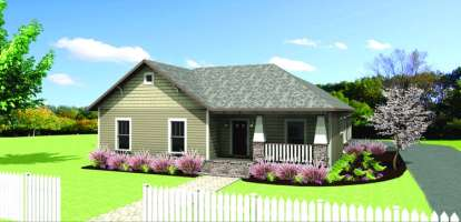 4 Bed, 2 Bath, 1612 Square Foot House Plan - #1776-00030