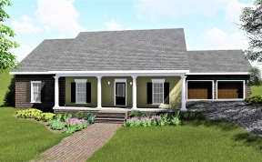 Country House Plan #1776-00036 Elevation Photo