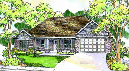 3 Bed, 2 Bath, 1884 Square Foot House Plan - #035-00291
