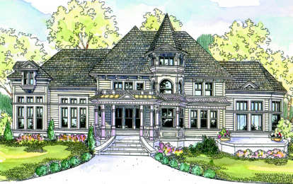 3 Bed, 3 Bath, 3458 Square Foot House Plan #035-00292