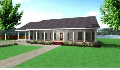 4 Bed, 2 Bath, 2380 Square Foot House Plan - #1776-00069