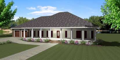 4 Bed, 2 Bath, 2380 Square Foot House Plan - #1776-00070