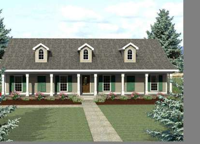 4 Bed, 2 Bath, 2435 Square Foot House Plan - #1776-00073