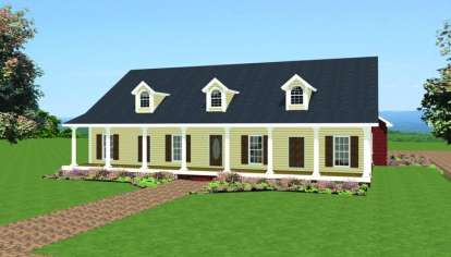 4 Bed, 3 Bath, 2440 Square Foot House Plan - #1776-00074