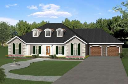 4 Bed, 3 Bath, 2550 Square Foot House Plan - #1776-00079