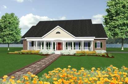 4 Bed, 3 Bath, 2726 Square Foot House Plan - #1776-00083