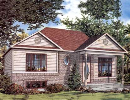 3 Bed, 2 Bath, 982 Square Foot House Plan #1785-00002