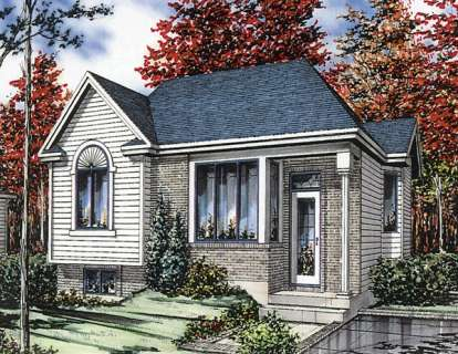 2 Bed, 1 Bath, 910 Square Foot House Plan - #1785-00009