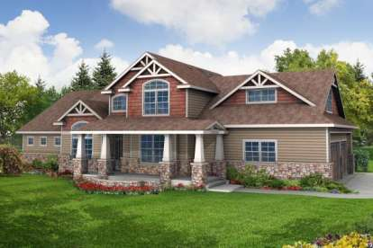 4 Bed, 3 Bath, 2674 Square Foot House Plan - #035-00294
