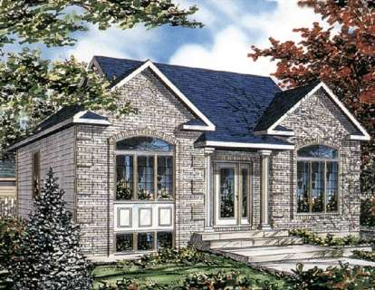 2 Bed, 1 Bath, 1008 Square Foot House Plan - #1785-00017