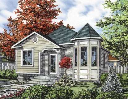 2 Bed, 1 Bath, 865 Square Foot House Plan - #1785-00025