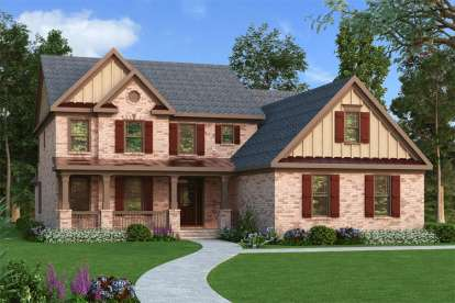 4 Bed, 3 Bath, 3351 Square Foot House Plan - #009-00078