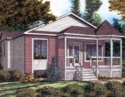 2 Bed, 1 Bath, 844 Square Foot House Plan - #1785-00031
