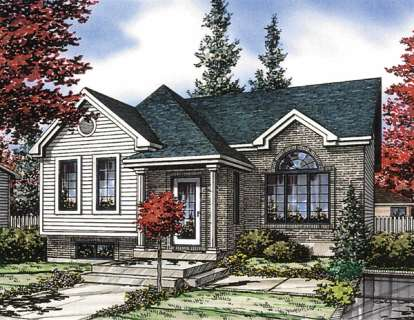 2 Bed, 1 Bath, 943 Square Foot House Plan - #1785-00033