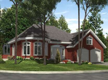 2 Bed, 1 Bath, 1399 Square Foot House Plan - #1785-00050