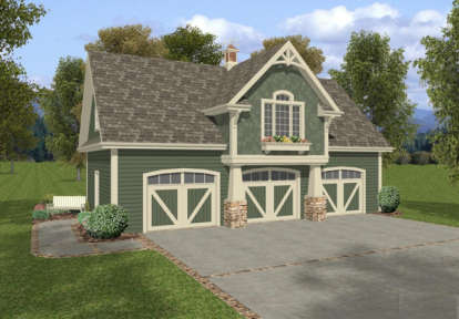 1 Bed, 1 Bath, 1792 Square Foot House Plan - #036-00002