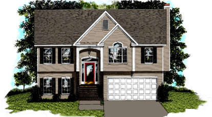 2 Bed, 2 Bath, 999 Square Foot House Plan #036-00003