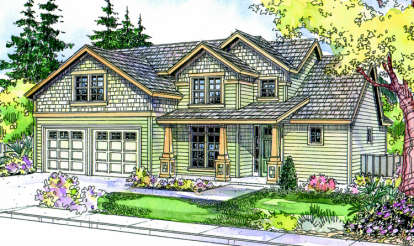 3 Bed, 2 Bath, 2210 Square Foot House Plan - #035-00298