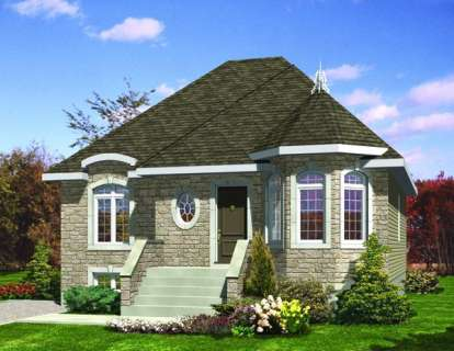 3 Bed, 1 Bath, 1008 Square Foot House Plan - #1785-00097
