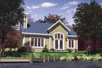 2 Bed, 1 Bath, 952 Square Foot House Plan - #1785-00116