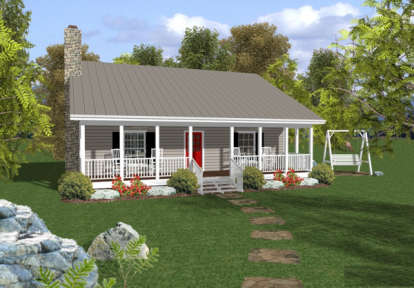 2 Bed, 1 Bath, 953 Square Foot House Plan #036-00005