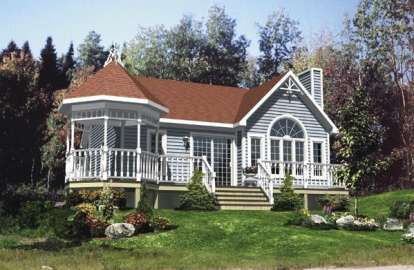 1 Bed, 1 Bath, 808 Square Foot House Plan - #1785-00117