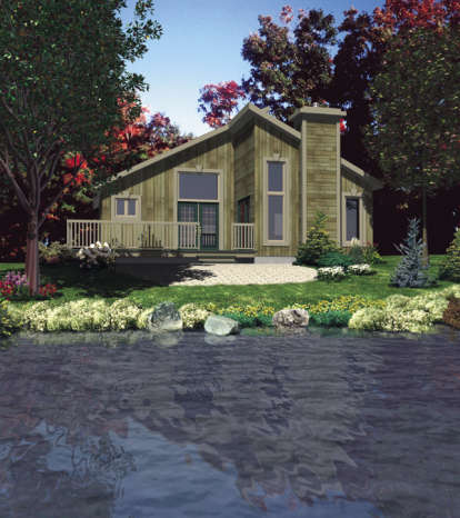 2 Bed, 1 Bath, 987 Square Foot House Plan - #1785-00118