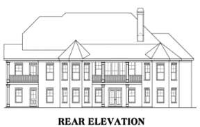 Southern House Plan #009-00079 Elevation Photo