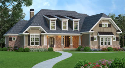 4 Bed, 4 Bath, 3763 Square Foot House Plan - #009-00079