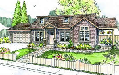 2 Bed, 1 Bath, 1363 Square Foot House Plan - #035-00299