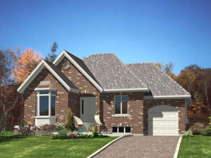 2 Bed, 1 Bath, 1024 Square Foot House Plan - #1785-00134