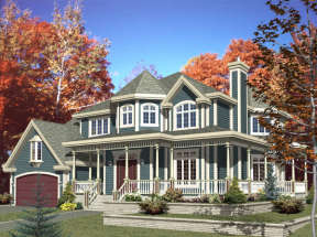 Country House Plan #1785-00135 Elevation Photo