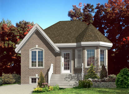 2 Bed, 1 Bath, 874 Square Foot House Plan - #1785-00149