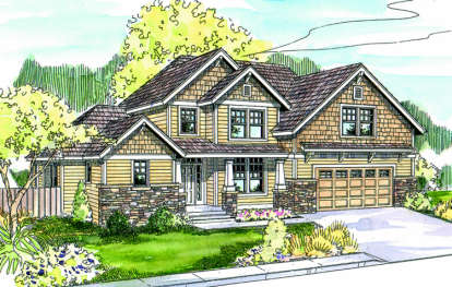 3 Bed, 2 Bath, 2173 Square Foot House Plan - #035-00301