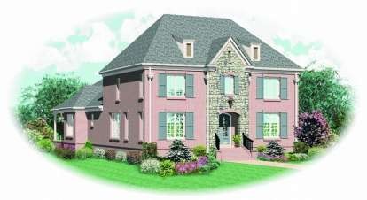 3 Bed, 3 Bath, 3335 Square Foot House Plan - #053-01805