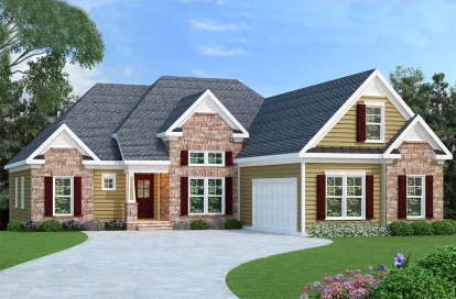 4 Bed, 2 Bath, 2068 Square Foot House Plan - #009-00080