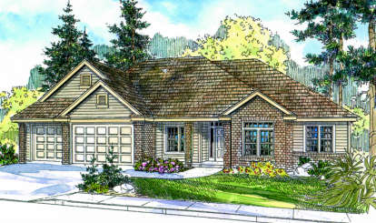 3 Bed, 2 Bath, 2470 Square Foot House Plan - #035-00304