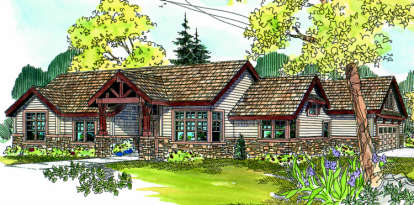 3 Bed, 2 Bath, 2523 Square Foot House Plan - #035-00305