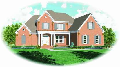 4 Bed, 3 Bath, 4257 Square Foot House Plan - #053-01863