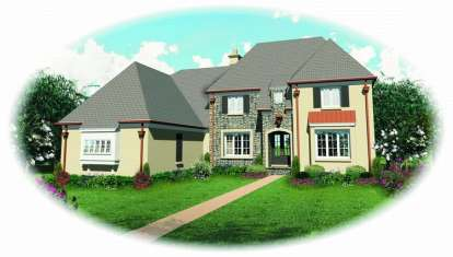 4 Bed, 4 Bath, 4486 Square Foot House Plan - #053-01897