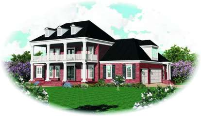 4 Bed, 4 Bath, 3792 Square Foot House Plan - #053-01911